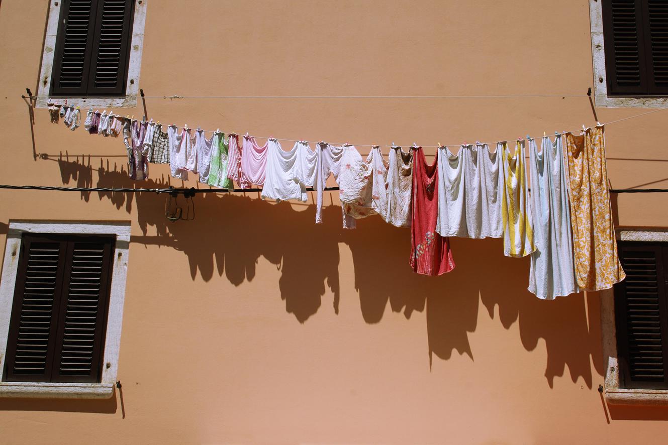 Wäsche einer perfekten Hausfrau