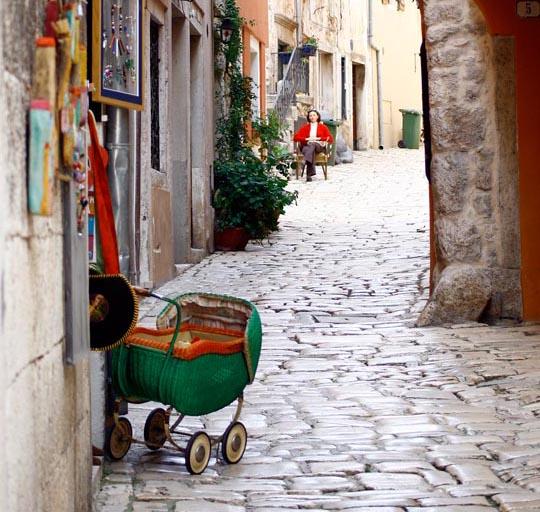 Ein Kinderwagen