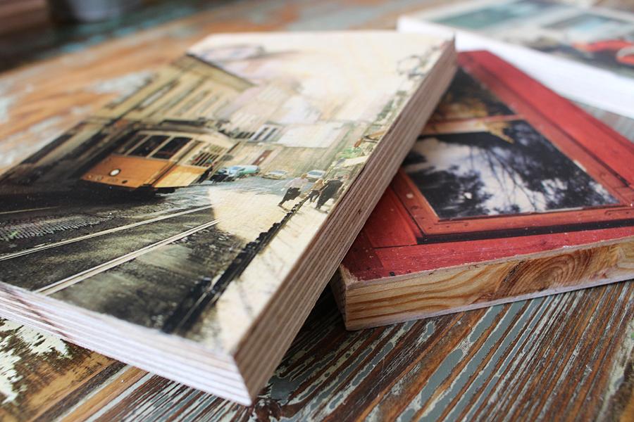Fotos als Holzdrucke